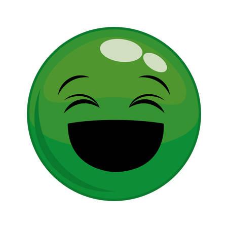 hapiness: Funny cartoon face graphic design, Illustration