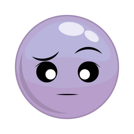 disappointment: Funny cartoon face graphic design, Illustration