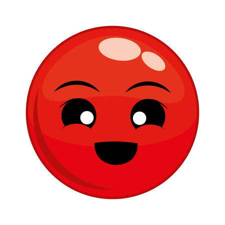 hapiness: Funny cartoon face graphic design