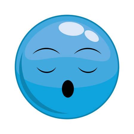 lazyness: Funny cartoon face graphic design, Illustration