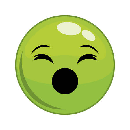 lazyness: Funny cartoon face graphic design