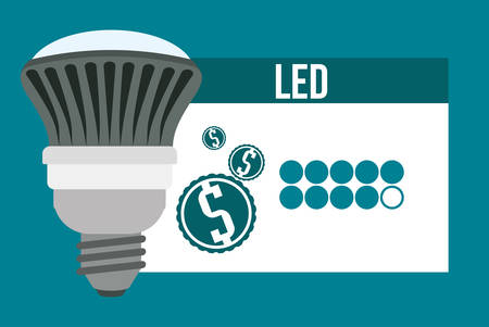 led light bulb: Energy concept with light bulb icon design, vector illustration 10 eps graphic.