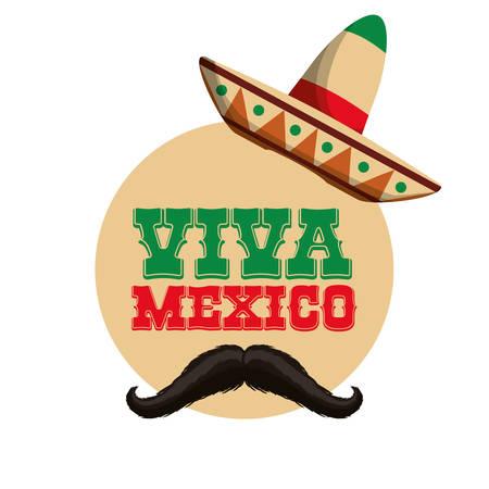 hispanics: mexico concept with icon design, vector illustration 10 eps graphic.