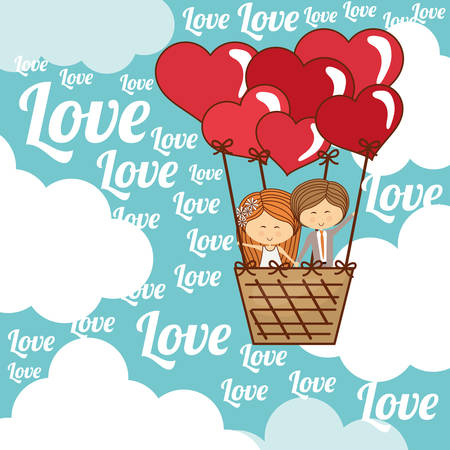 fall in love: Love concept with romantic icon design, vector illustration 10 eps graphic.