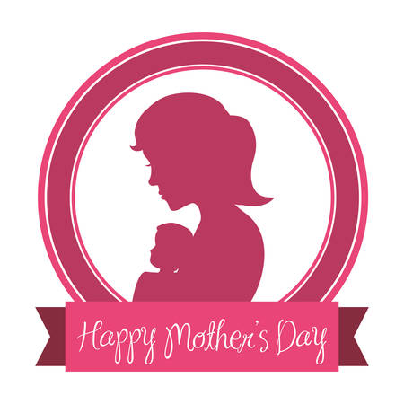 happy holidays card: Mothers day concept with cute icons design