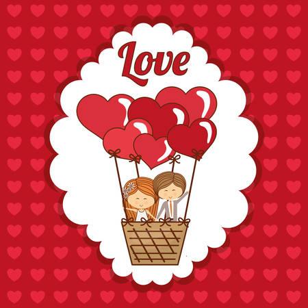 romantic: Love concept with romantic icon design