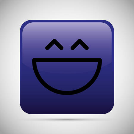 hapiness: Funny cartoon face graphic design, vector illustration eps10
