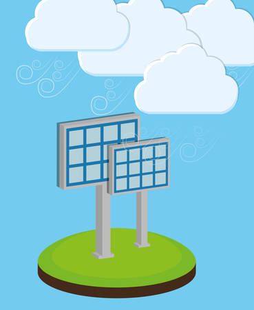 panels: Solar energy panels, vector illustration, eps 10