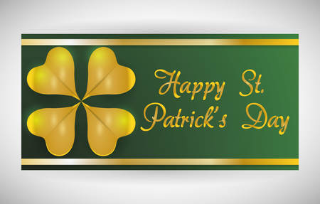 irish culture: Happy Saint Patricks day concept with celebration design, vector illustration 10 eps graphic.