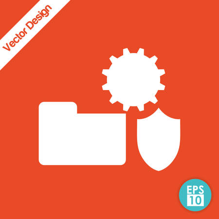 detected: Security system concept with technology icon design, vector illustration