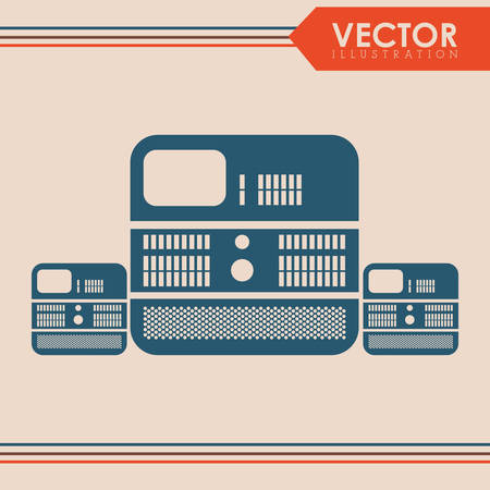 computing machine: Data center concept with technology icon design, vector illustration