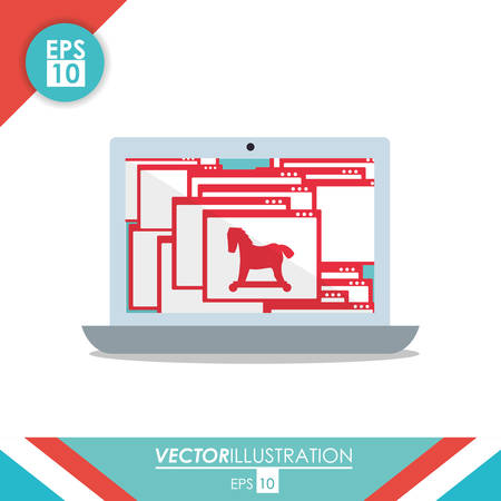 Security system concept with technology icon design, vector illustration