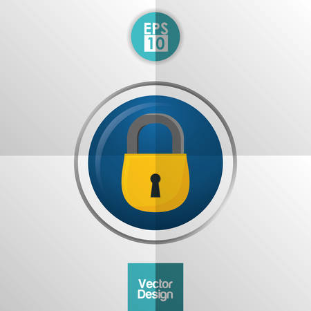 security technology: Security system concept with technology icon design, vector illustration