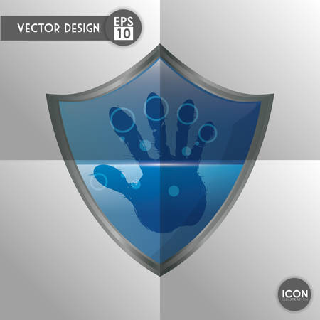 trajan: Security system concept with technology icon design, vector illustration