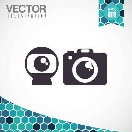 digicam: Technology concept with camera  icon design, vector illustration 10 eps graphic.