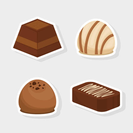 chocolate truffle: Chocolate concept with sweet icon design, vector illustration 10 eps graphic.