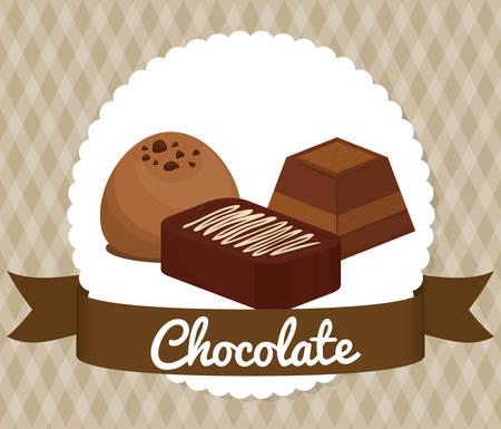 Chocolate concept with sweet icon design, vector illustration 10 eps graphic. Vektoros illusztráció