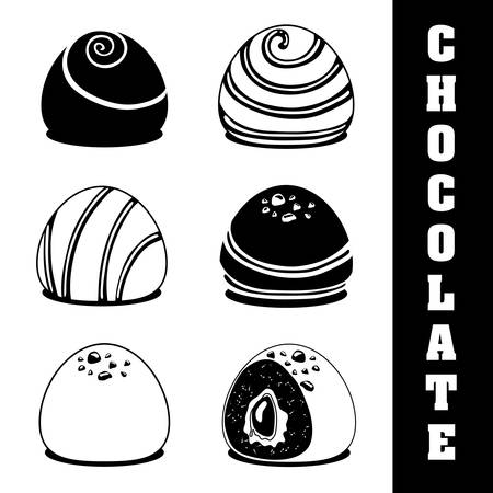 truffle: Chocolate concept with sweet icon design, vector illustration 10 eps graphic.