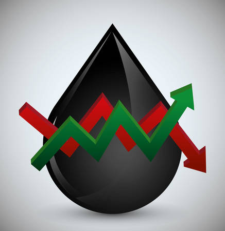 energy market: Oil price concept with petroleum icon design, vector illustration 10 eps graphic.