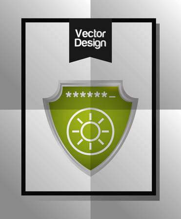 trajan: Security system concept with technology icon design, vector illustration 10 eps graphic.