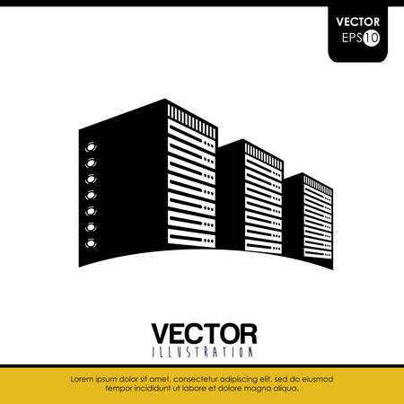Rechenzentrum Konzept mit Technologie-Icon-Design, Vektor-Illustration 10 EPS-Grafik.