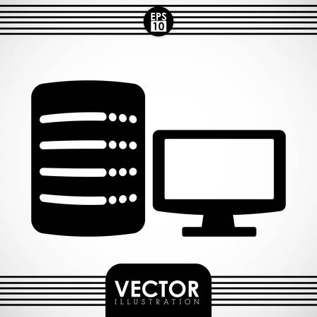 computing machine: Data center concept with technology icon design, vector illustration 10 eps graphic.