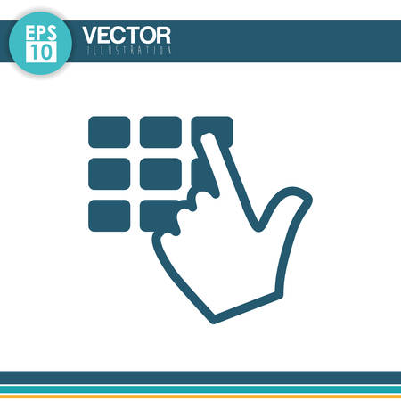 fatal: Security system concept with technology icon design, vector illustration 10 eps graphic.