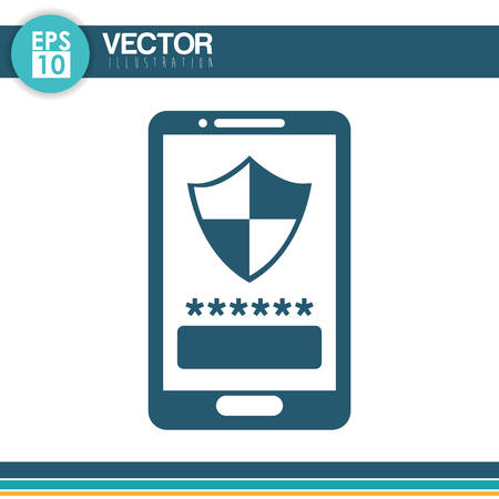 fatal error: Security system concept with technology icon design, vector illustration 10 eps graphic.