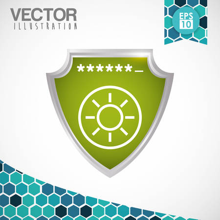 security technology: Security system concept with technology icon design, vector illustration 10 eps graphic.