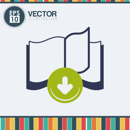 ebook: Education concept with ebook icon design, vector illustration 10 eps graphic. Illustration