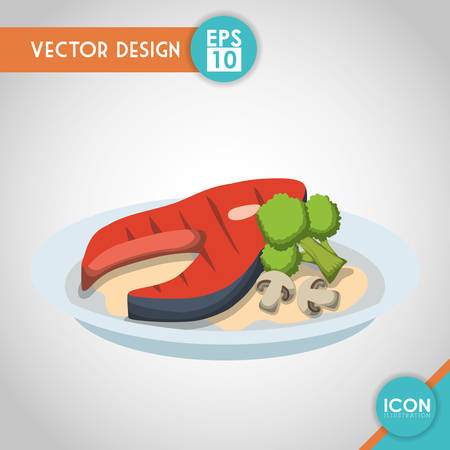 Organic product concept with healthy food icon design, vector illustration 10 eps graphic. Illustration
