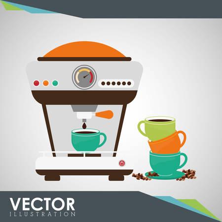 Coffee concept met pictogram ontwerp, vector illustratie 10 eps grafische.