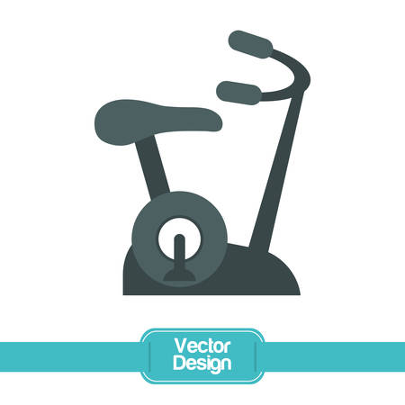 spinning: Healthy lifestyle concept with gym icon design, vector illustration 10 eps graphic. Illustration