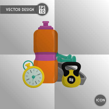 activity exercising: Healthy lifestyle concept with gym icon design, vector illustration 10 eps graphic. Illustration