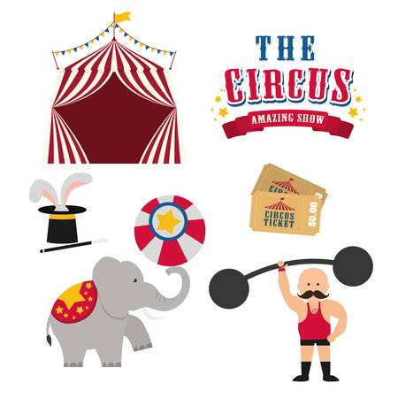cartoon circus: Circus concept with carnival icon design, vector illustration 10 eps graphic.