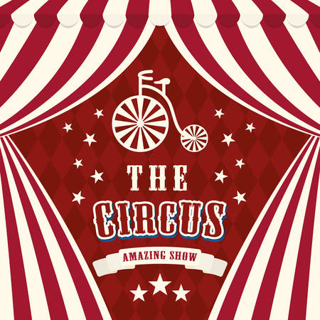 circus performers: Circus concept with carnival icon design, vector illustration 10 eps graphic.