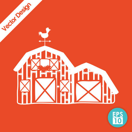 farm land: Farm concept with stable icons design, vector illustration 10 eps graphic.