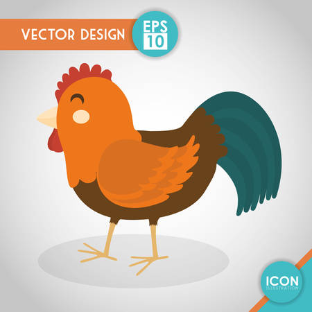 cultivated: Farm concept with animals icons design, vector illustration 10 eps graphic.