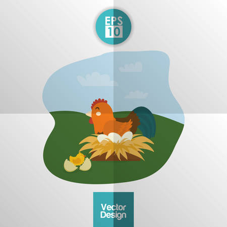 cultivating: Farm concept with animals icons design, vector illustration 10 eps graphic.
