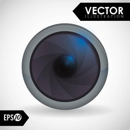 digicam: Camera concept with icon design, vector illustration 10 eps graphic. Illustration