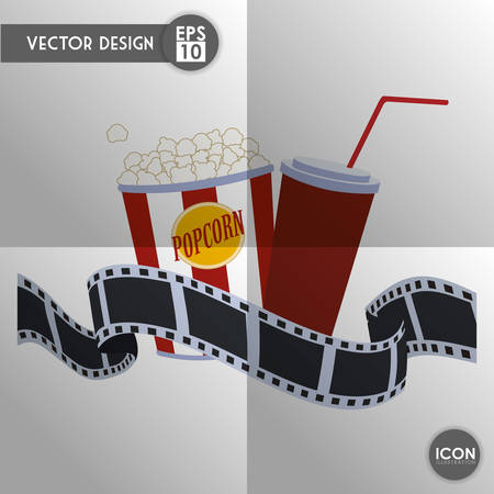 strip show: Movie concept with cinema icon design, vector illustration 10 eps graphic. Illustration