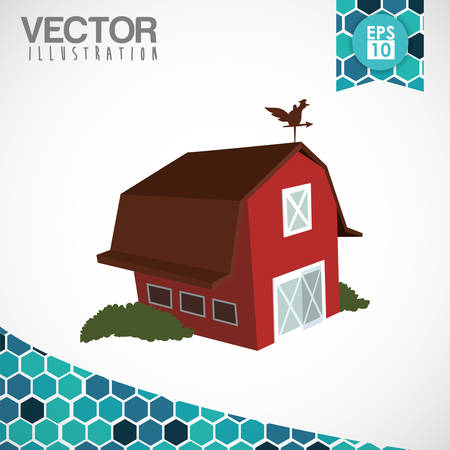 stable: Farm concept with stable icons design, vector illustration 10 eps graphic.