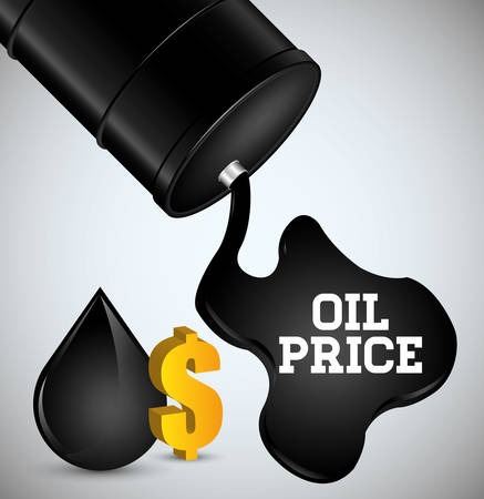 Oil price concept with petroleum icons design, vector illustration 10 eps graphic.