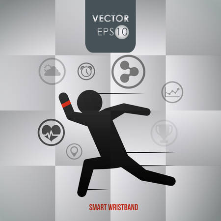 media network: Technology  concept with gadget icon design, vector illustration 10 eps graphic.