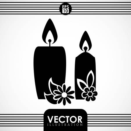 flower bath: Spa center concept with icons design, vector illustration 10 eps graphic.