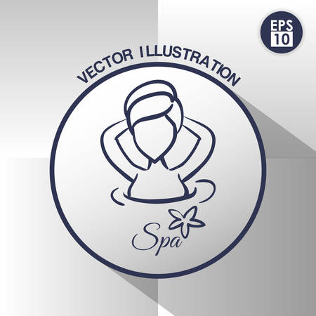 relaxed: Spa center concept with icons design, vector illustration 10 eps graphic.