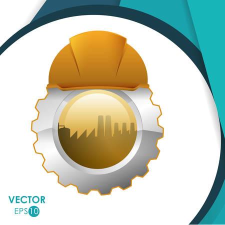 seguridad industrial: Concepto de la construcción con el diseño de iconos de la industria, ilustración vectorial eps 10 gráfico. Vectores