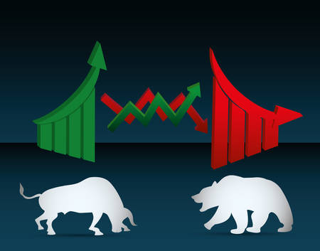 fund world: Stock exchange concept with icon design, vector illustration 10 eps graphic.
