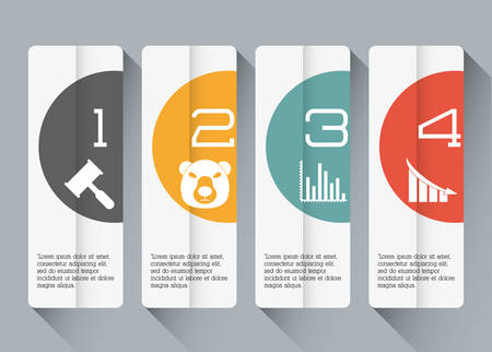 infomation: Infographic concept with icon design, vector illustration 10 eps graphic.