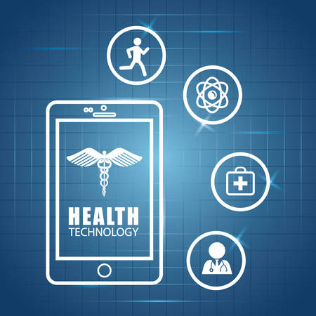 medics: Health technology concept with medical icon design, vector illustration 10 eps graphic.